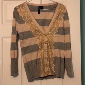 Anthropologie lace v neck cardigan
